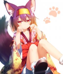 short hair,  fox,  no game no life