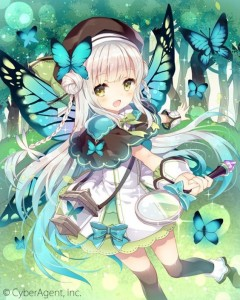 butterfly,  forest,  white hair,  long hair