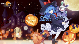 date a live,  himekawa yoshino,  tagme,  dress,  witch,  halloween,  wallpaper