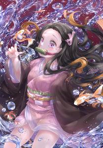 kimetsu no yaiba,  nezuko kamado,  kimono