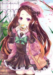 kimetsu no yaiba,  nezuko kamado,  young girl,  schoolgirl